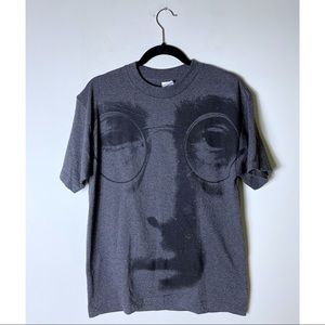 Lennon Face Graphic Instant Karma T-Shirt